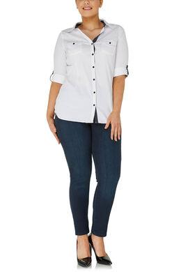 Klassieke blouse met knoopjes, Wit