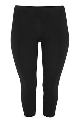 Legging 3/4 coton biologique, Noir