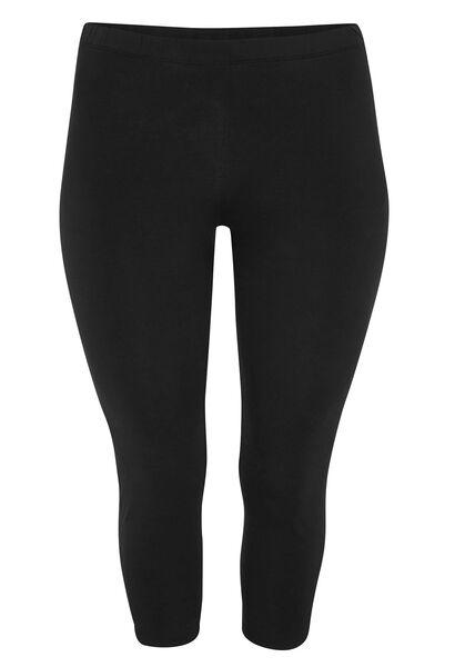 Legging 3/4 coton biologique - Noir
