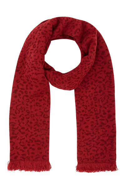 Sjaal met dierenhuidprint - Bordeaux