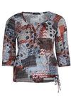 T-shirt patchworkprint van gevlamd tricot