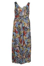 Longue robe imprimé feuillage