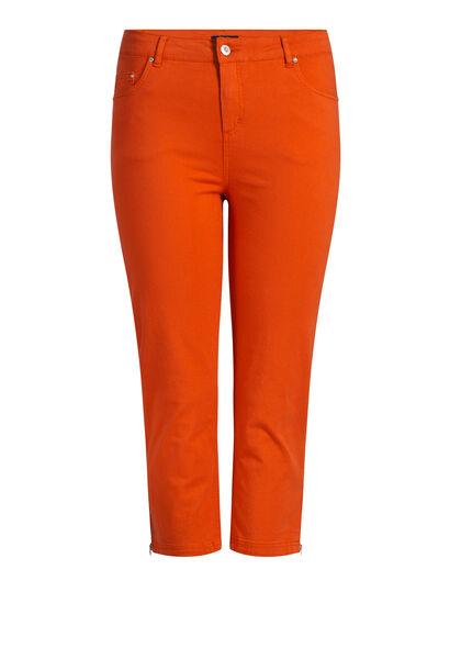 Pantacourt galbant en coton - Orange