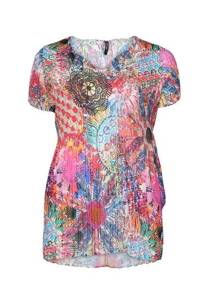 Blouse met psychedelische print - Multicolor