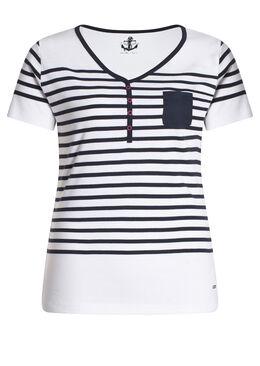 T-shirt marinière, Blanc