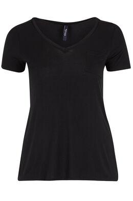 Tshirt V-hals, Zwart