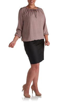 Shirt met minimalistisch dessin, Blush