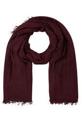 Effen sjaal met visgraatmotief