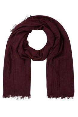 Effen sjaal met visgraatmotief, Bordeaux