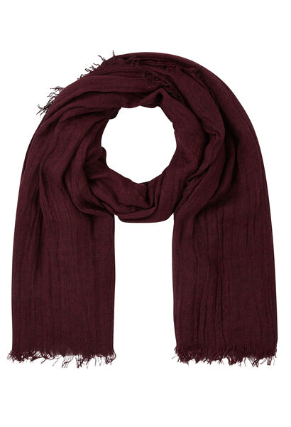 Effen sjaal met visgraatmotief - Bordeaux