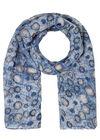Sjaal met cirkels, Indigo