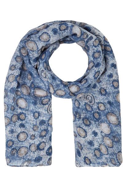 Sjaal met cirkels - Indigo