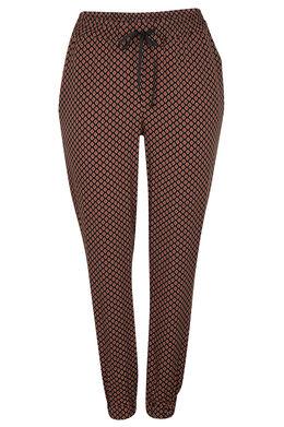 Zachte, soepele broek, minimalistische print Tomaat