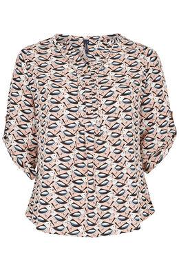 Hemd met vogelprint, Blush