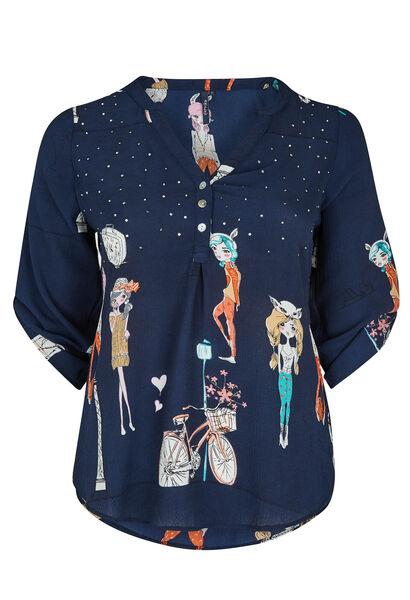 Bloes 'dametjes' - Marineblauw