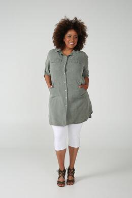 robe chemise en Tencel, Kaki-clair