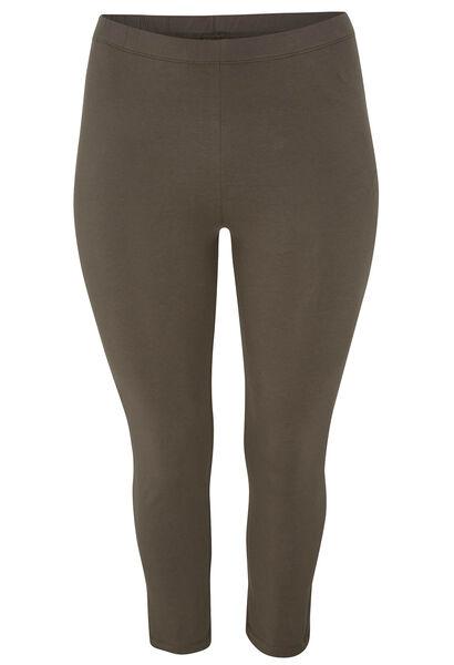 Legging 3/4 coton biologique - Kaki