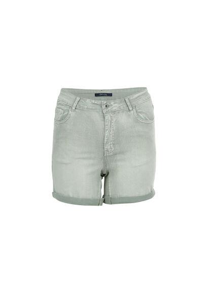 Katoenen short met 5 zakken - Licht kaki