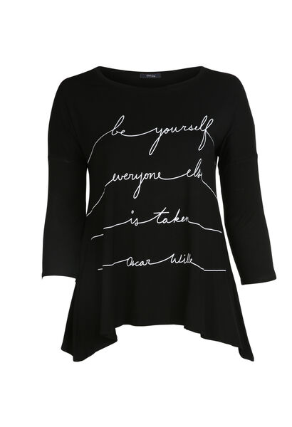 T-shirt print message - Noir