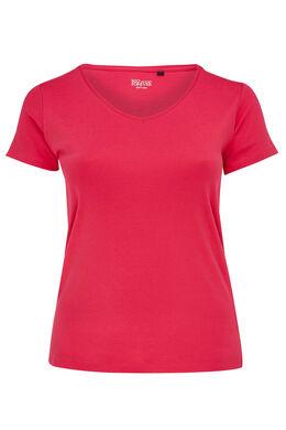 T-shirt basique en coton bio, Fushia