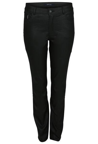 Gecoate broek met 5 zakken - Zwart