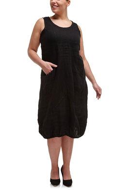 Linnen jurk, Zwart