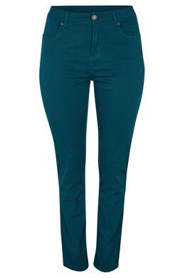 Vormgevende slim broek met 5 zakken, Emerald groen