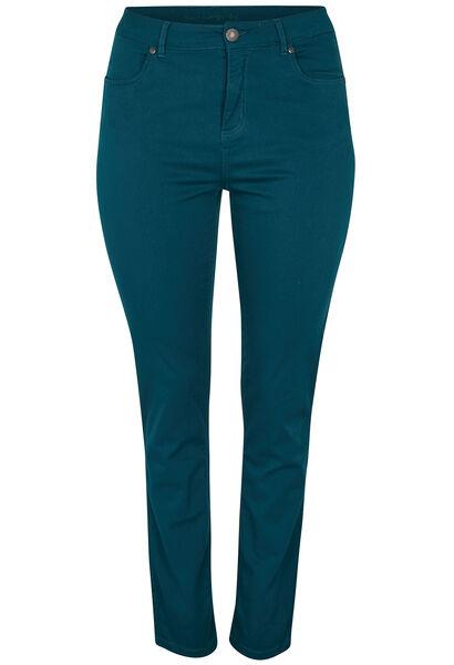 Vormgevende slim broek met 5 zakken - Emerald groen