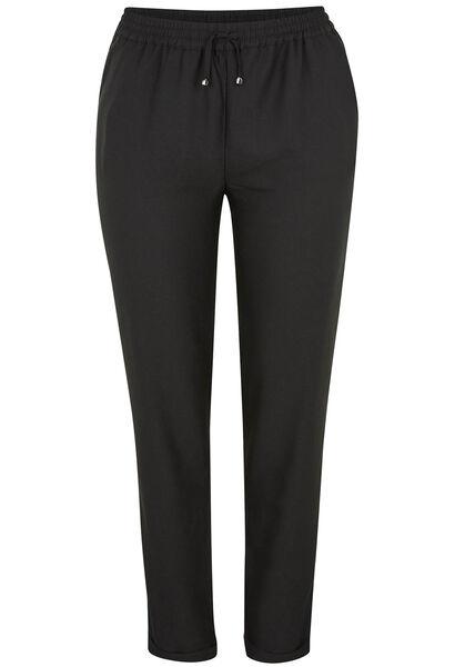 Pantalon souple en crêpe - Noir