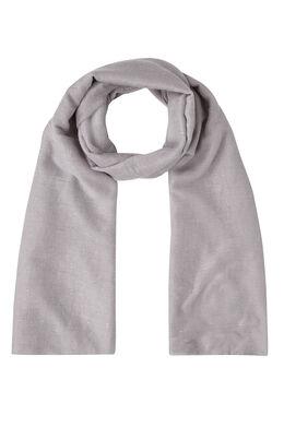 Sjaal in effen viscose met lovertjes, Lichtgrijs