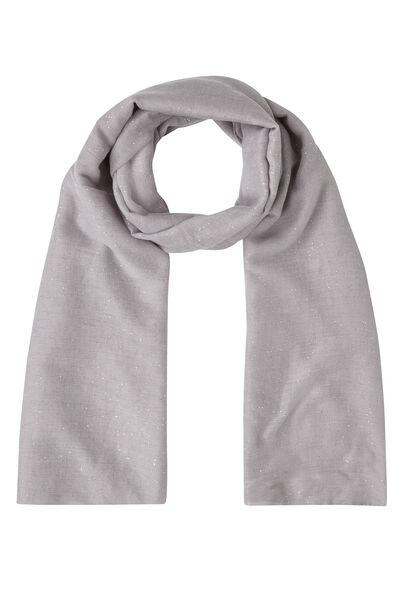 Sjaal in effen viscose met lovertjes - Lichtgrijs