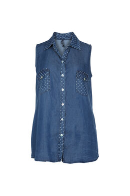 Chemisier en tencel et pois, Denim