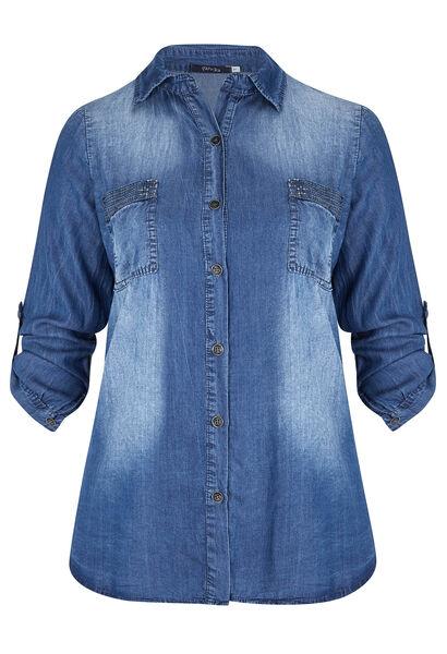 Shirt in tencel - Denim