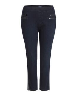 Korte jegging in jeans, Denim