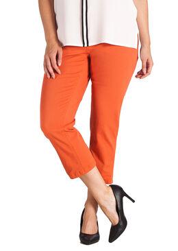 Pantacourt galbant en coton, Orange