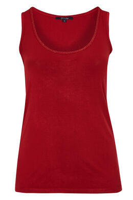 Top in viscose, Tomaat
