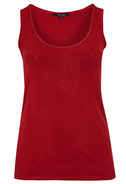 Top in viscose - Tomaat