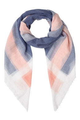 Vierkante sjaal met ruitjeseffect Indigo
