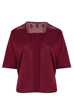 Vest van tricot en kant Bordeaux