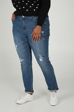 Jeans effet déchirures, Denim