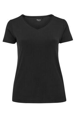 T-shirt basique en coton bio, Noir