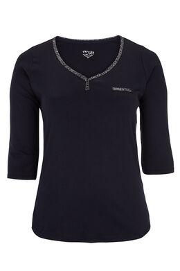 Katoenen T-shirt Marineblauw
