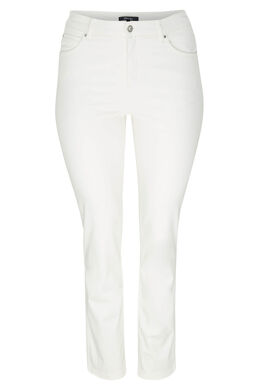 Pantalon slim magic up, Ecru