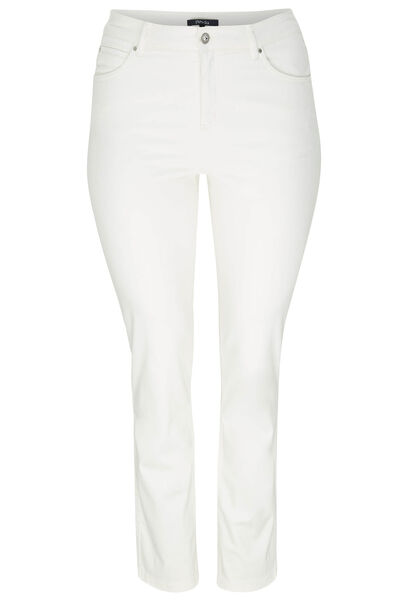 Slim magic-up broek - Ecru