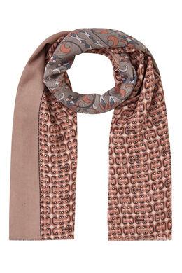 Sjaal met gemixte print, Roze