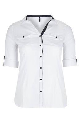 Chemisier classique boutonné, Blanc