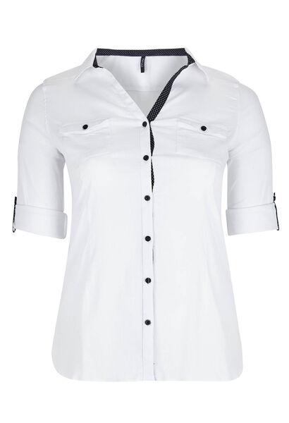 Chemisier classique boutonné - Blanc