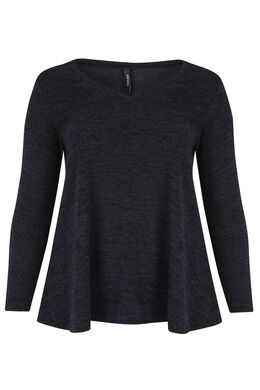 Tuniek van warm tricot Marineblauw