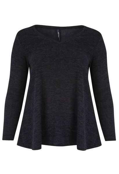 Tuniek van warm tricot - Marineblauw