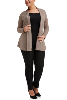 Long cardigan en maille chaude, Blush